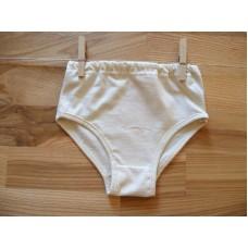 Dívčí spodní kalhotky přírodní 128-140, doprodej